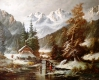 26a Winter in den Bergen 80 x 100 cm Leinwand D